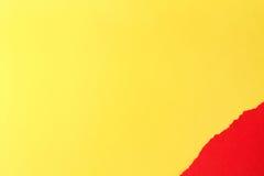 съемка предпосылки близкая бумажная вверх Желтый цвет и красный цвет Стоковое Изображение RF