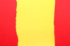 съемка предпосылки близкая бумажная вверх Желтый цвет и красный цвет Стоковые Фотографии RF