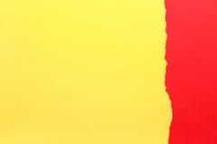 съемка предпосылки близкая бумажная вверх Желтый цвет и красный цвет Стоковая Фотография