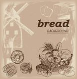 съемка рамки хлеба предпосылки полная иллюстрация вектора
