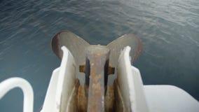 Съемка средства океана и мотор яхты акции видеоматериалы