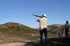 съемка стрельбы пушки Стоковое фото RF
