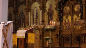 Съемка тележки православной церков церков видеоматериал