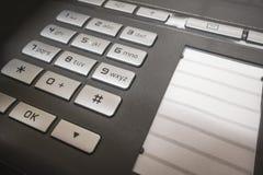 съемка телефона офиса сини близкая тонизированная вверх Стоковое Фото