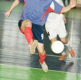 съемка футболистов нападения Стоковое Изображение RF