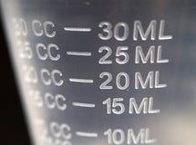съемка чашки крупного плана измеряя Стоковое Изображение RF