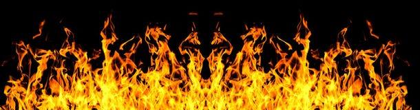 съемка черного пожара предпосылки horzontal Стоковые Фото