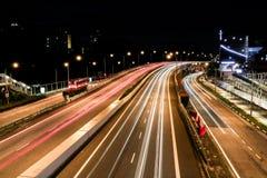 Съемка шоссе долгой выдержки стоковое изображение rf