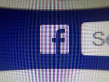 Съемка экрана Facebook f стоковые изображения