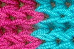 Съемка close-up шарфа зимы Стоковая Фотография