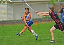 съемка lacrosse цели Стоковые Фото