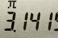 съемка pi номера макроса Стоковые Изображения RF
