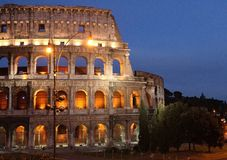 съемка rome ночи colosseum Стоковое фото RF