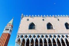 съемка venice дворца ночи Италии doges Стоковое Фото