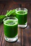 Съемка Wheatgrass Сок от травы пшеницы Тенденция здоровья стоковое фото