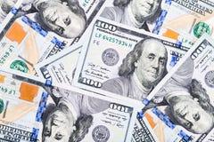 Съемки конца-вверх в объективе макроса немного 100 долларов банкноты Стоковое Изображение RF