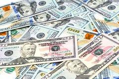 Съемки конца-вверх от 100 долларов банкноты Стоковые Фотографии RF