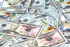 Съемки конца-вверх от 50 долларов банкноты Стоковая Фотография