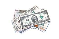 Съемки конца-вверх от 100 долларов банкноты Стоковая Фотография RF