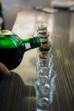 Съемки одного питья метра готовые для того чтобы party Стоковые Фотографии RF