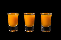 3 съемки питья крушины моря Стоковое Фото