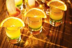 Съемки питья с плодоовощами Стоковое фото RF