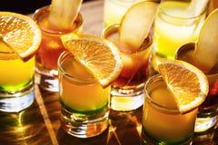 Съемки питья с плодоовощами Стоковые Фото