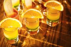 Съемки питья с плодоовощами Стоковая Фотография