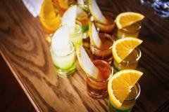 Съемки питья с плодоовощами Стоковые Изображения