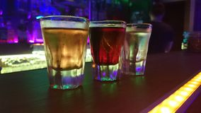 Съемки alkohol радуги Стоковое Изображение