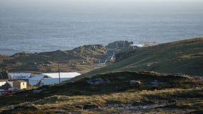 Съемочная площадка Звездных войн на заливе Breasty в голове Malin, Co Donegal, инфракрасн Стоковые Фото