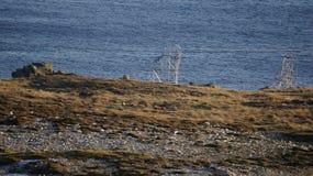 Съемочная площадка Звездных войн на заливе Breasty в голове Malin, Co Donegal, инфракрасн Стоковая Фотография RF