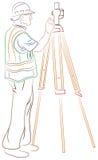 съемщик земли измеряя Стоковая Фотография