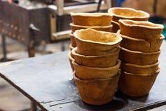 Съестные плиты для супа сделанного от печенья испекли в печи Стоковые Изображения