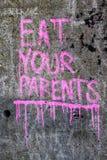 Съешьте ваших родителей стоковые изображения rf