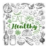съешьте еду здоровую Вегетарианец 3 иллюстрация вектора