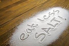 Съешьте концепция меньше †соли «медицинская Стоковая Фотография