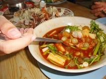Съешьте морепродукты Стоковые Фото