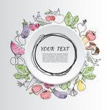 съешьте овощи плодоовощей здоровые иллюстрация вектора