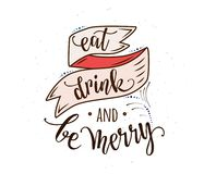 Съешьте, питье и веселый иллюстрация вектора