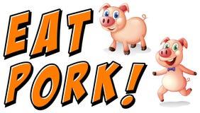 Съешьте свинину иллюстрация вектора
