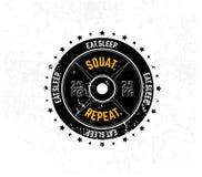 съешьте сон squat повторение Печать спортзала мотивационная с grunge ef бесплатная иллюстрация
