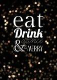 Съешьте танец питья и веселый Стоковое Изображение
