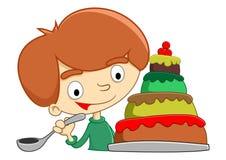 Съешьте торт иллюстрация вектора