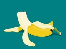 Съеденный банан иллюстрация штока
