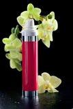 сыворотка орхидей лосьона бутылки cream Стоковое Фото