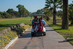 Сыграйте в гольф турнир на Косте del Sol, Малаге, Испании стоковое изображение rf