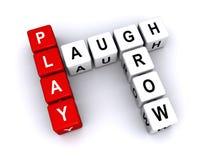 Сыграйте, смейтесь над, Grow сказал по буквам с блоками иллюстрация штока