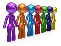 Сыгранности сети характера друзей линия люди социальной цепная Стоковые Фотографии RF