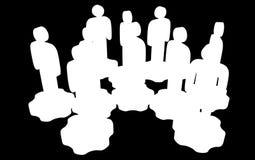 Сыгранность Группа в составе стилизованная стойка людей на шестернях бесплатная иллюстрация